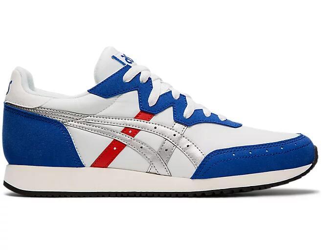 ASICS Unisex Tarther OG Trainers in White/Asics Blue (Limited Sizes) £26 Delivered @ ASICS