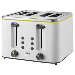 Beko TAM4341W 4 Slice Toaster in White £15.94 +£6.99 delivery @ Sonic Direct
