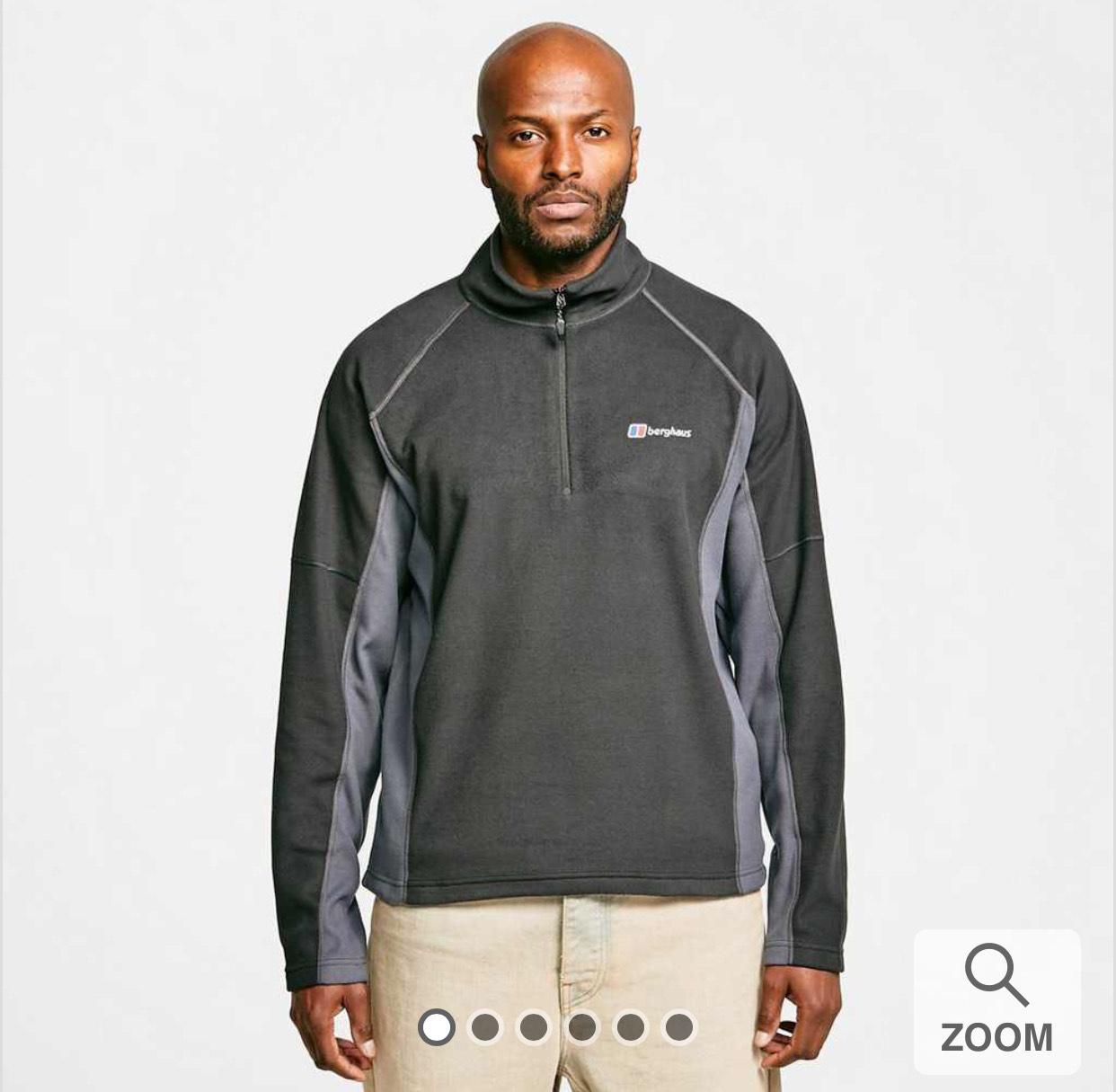 Berghaus Men's Hartsop Half-Zip Micro Fleece Black/Khaki/Blue/Red - £24.65 with code delivered @ Blacks