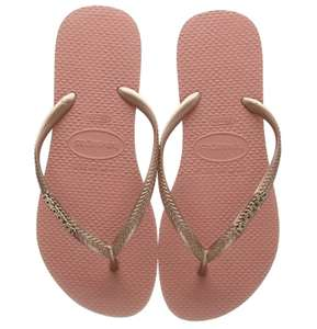 Size 1-2 Rose Gold Havaiana Metallic Flip Flops £6.91 prime / £11.40 non prime @ Amazon