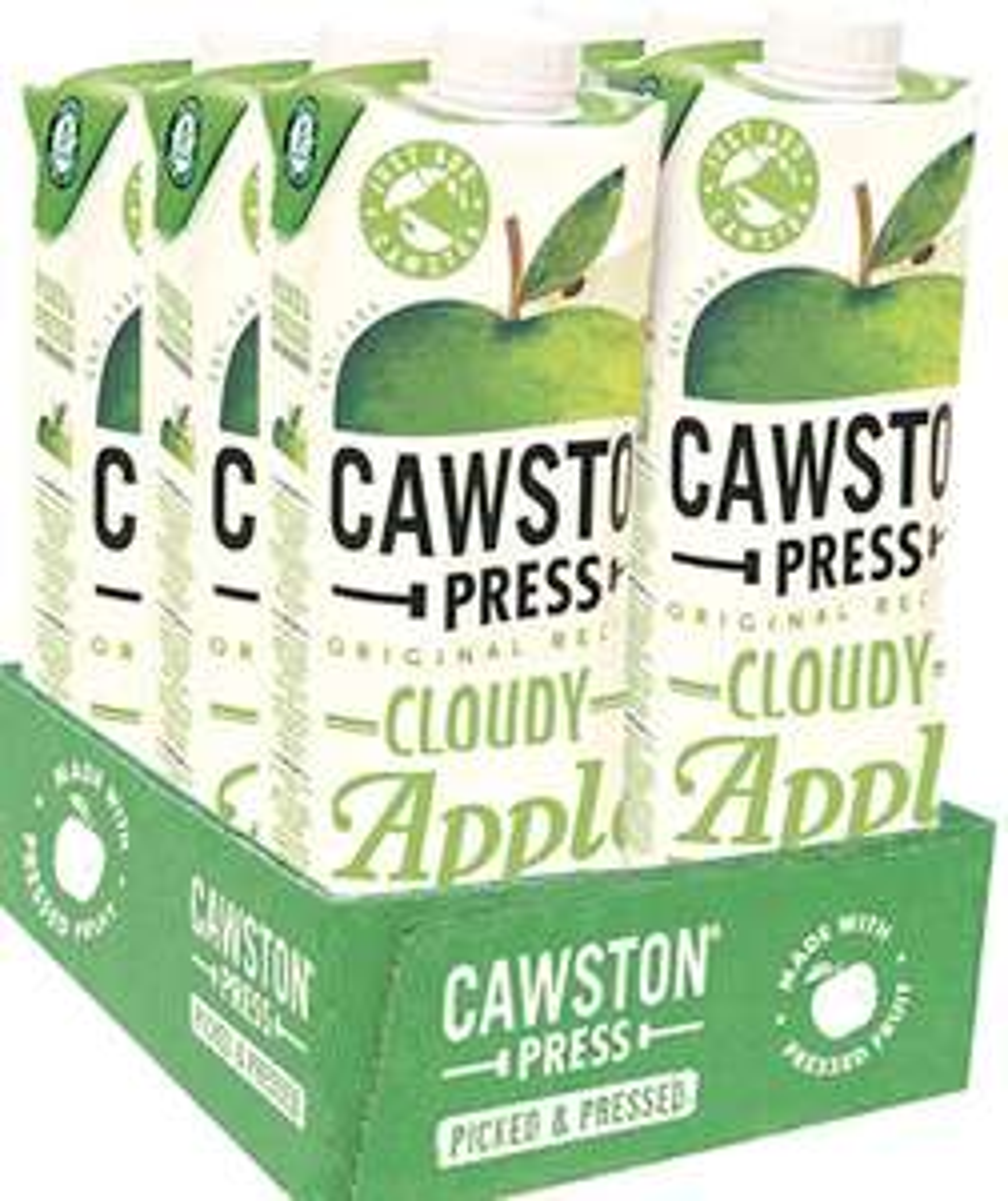 Cawston Press Cloudy Apple Pressed Juice, 1 l, Pack of 6 - £6.32 (+£4.49 Non-Prime) @ Amazon