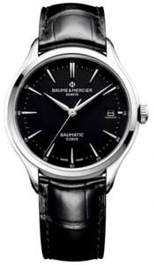 Baume & Mercier Clifton Baumatic 40mm Black Dial & Leather Strap Automatic Watch - £1,840 @ Berry's Jewellers
