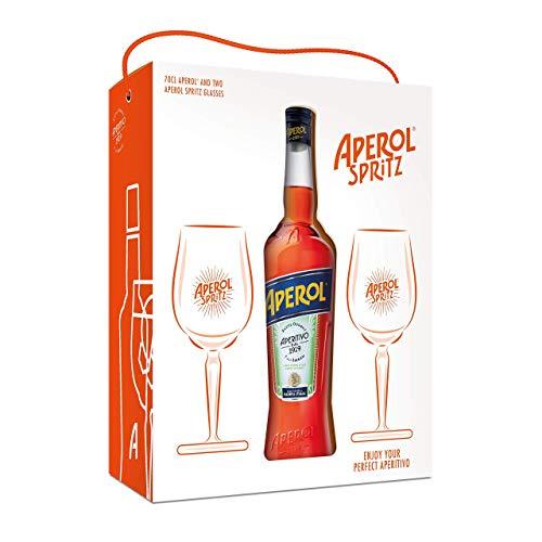 Aperol 70cl & 2 Aperol Spritz glasses - £15.00 (+£4.49 Non-Prime) @ Amazon