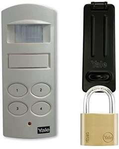 Yale P-SHPK-01 Wireless Shed And Garage Alarm, Built In Siren, Motion Detector With Padlock And Hasp, White, 40mm - £21.01 @ Amazon