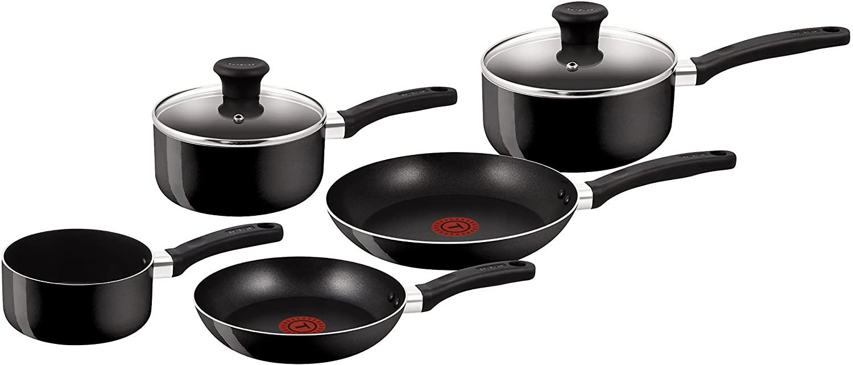 Tefal Delight Cookware Set - Black, 5 Pieces - £35.99 @ Amazon