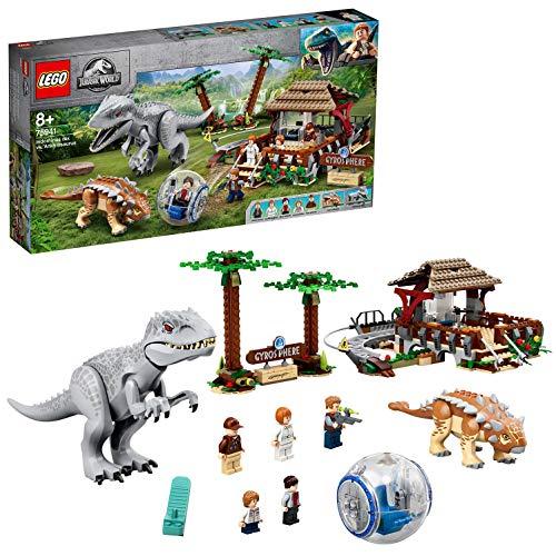 LEGO Jurassic World 75941 Indominus Rex vs. Ankylosaurus Dinosaurs Set with Gyrosphere £61.94 (UK Mainland) at Amazon EU