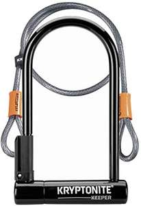 Kryptonite Keeper 12 Standard U lock bike lock with Flex cable - Sold Secure Silver - £21.10 delivered at Amazon