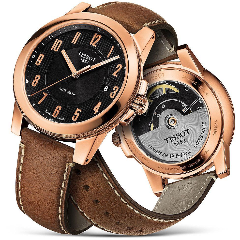 Tissot Men's Automatic Brown Leather Swissmatic Watch - £212.50 @ Hillier's Jewellers
