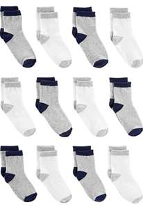 Simple Joys by Carter's Boy's socks 12 pack age 4-5 now £5.95 prime / £10.44 nonPrime at Amazon