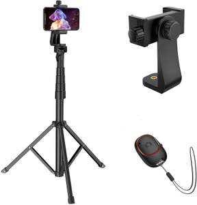 """Mpow Selfie Stick & Tripod Extends to 62"""" with Bluetooth Remote 5.0 £11.04 prime / £15.53 nonprime Sold by SJH EU LTD & Fulfilled by Amazon"""