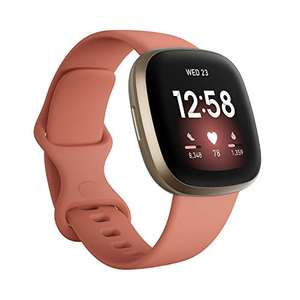 Fitbit Versa 3 Health & Fitness Smartwatch with GPS Pink Clay / Rose Gold £159.10 at Amazon