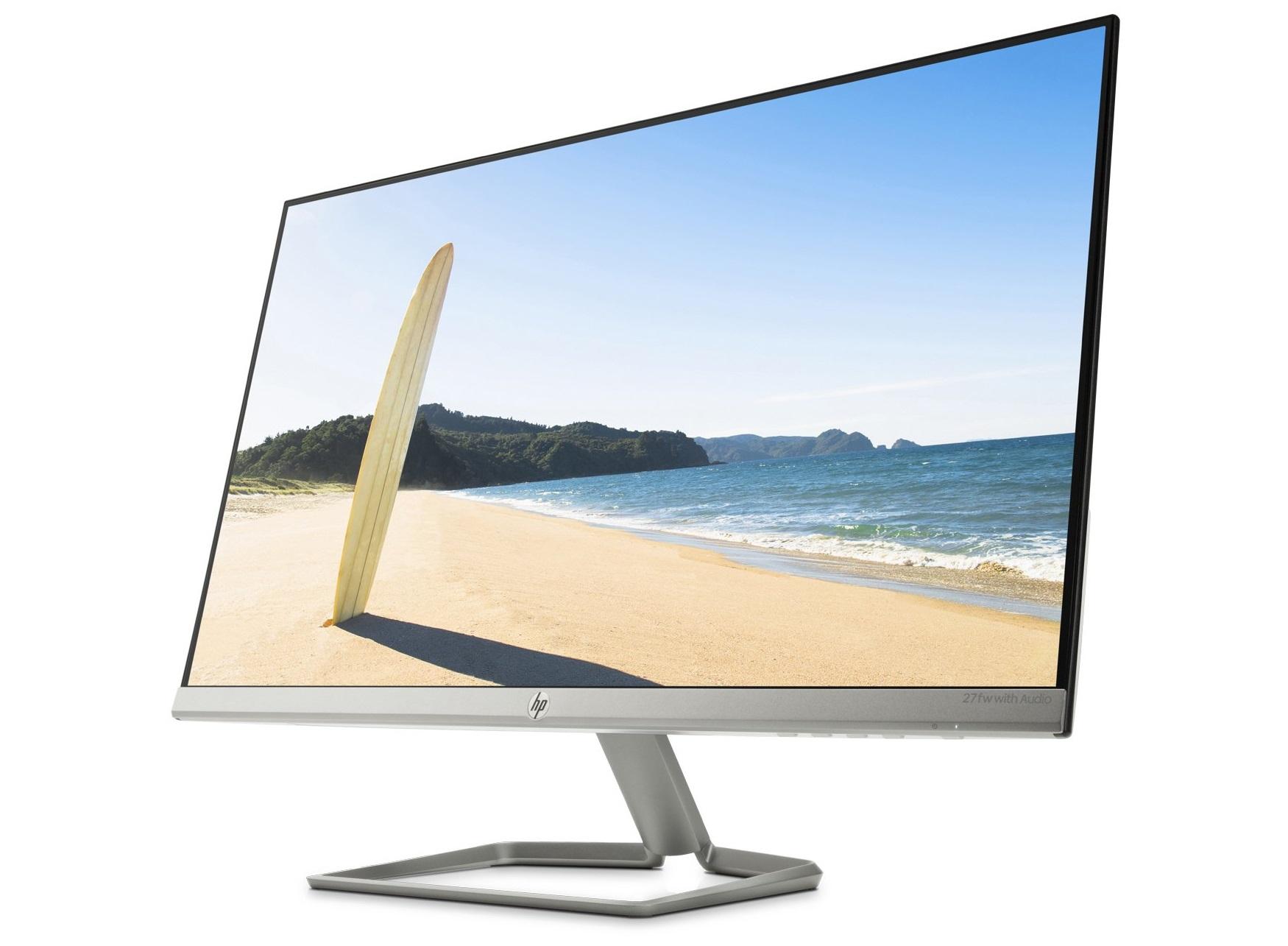 """HP 27fw with Audio 2yr warranty 68.58 cm (27"""" ) Ultraslim Full-HD IPS Monitor £134.99 unidays else 149.99 @ HP"""