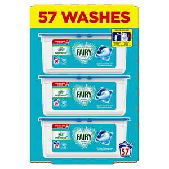 Fairy Non Bio / Ariel Pods Washing Liquid Capsules 57 Washes - £5 at Wilko Northallerton