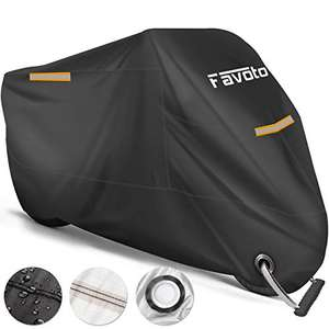 Favoto Waterproof Motorcycle Cover XXL £12.90 Prime (+£4.49 Non Prime) Sold by FAVOTO and Fulfilled by Amazon