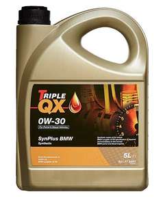 TRIPLE QX SynPlus 0W-30 BMW - 5Ltr £17.87 with Code Free Delivery @ Euro Car Parts