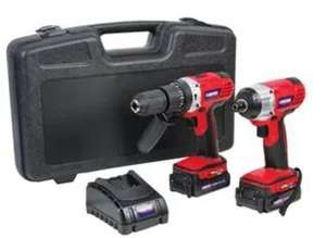 18V 2x 2Ah Li-Ion Cordless Combi Drill & Impact Driver Kit - £83.94 delivered at CPC Farnell