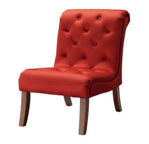 Habitat Moorlands Velvet Accent Chair in red for £90.99 click & collect (clearance) @ Argos