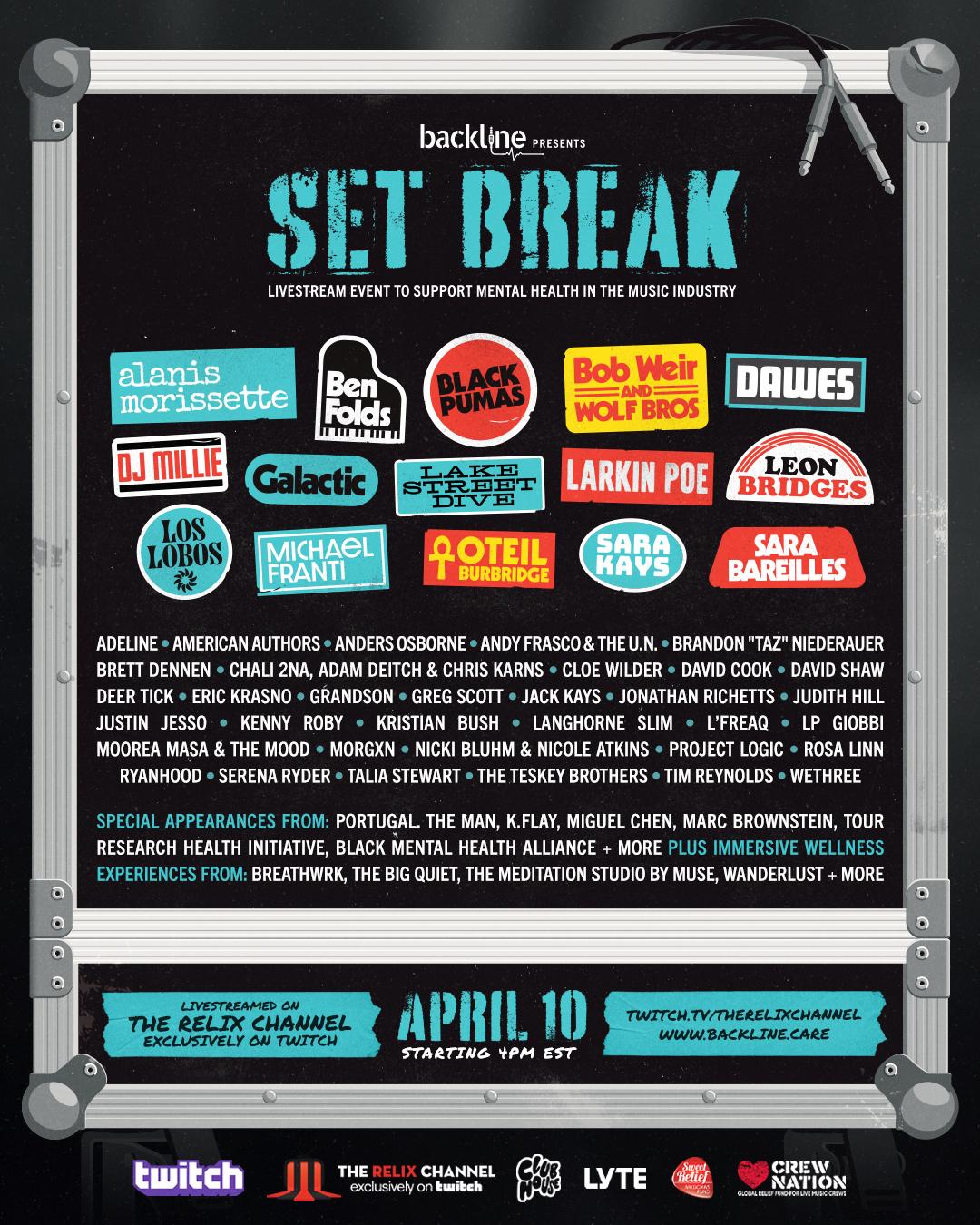 Free live stream music fundraiser 10th April via Twitch 4pm EST (9pm BST)
