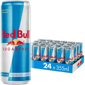 Red Bull Energy Drink Sugar Free 24 Pack 355 ml, Sugarfree £18.43 Prime / £16.59 S&S / £22.93 Non Prime