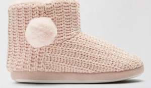 Blush Pink Chenille Slipper Boots - £6.30 delivered with code @ Dorothy Perkins