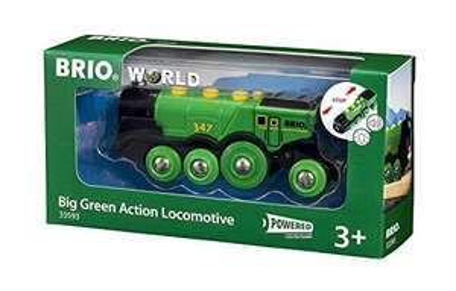 BRIO World Big Green Action Locomotive Battery Powered Wooden Train for Kids £13.79 Amazon Prime / £18.28 Non Prime