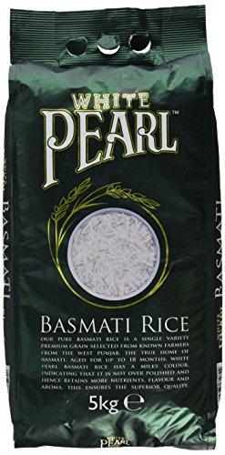 White Pearl 5kg basmati rice £5.99 Amazon Prime / £10.48 Non Prime