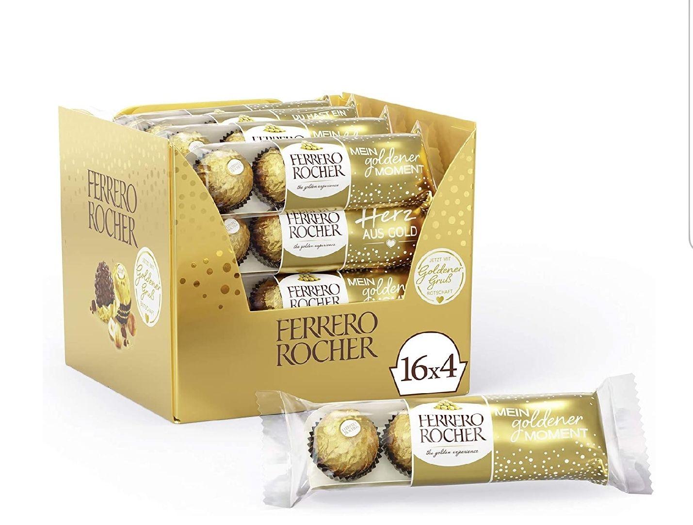 16 x 4 pack Ferrero Rocher Chocolate (64 pieces) £13.37 at Amazon Prime / £17.86 Non Prime