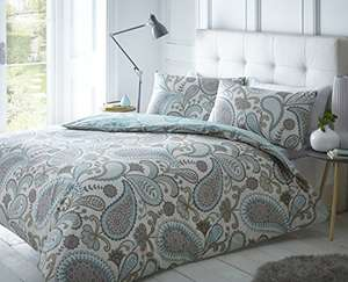 Sleepdown Paisley Teal Duvet Cover & Pillowcase Set Bedding £13.49 prime (+£4.49 nonPrime) @ amazon