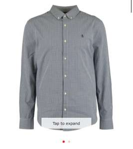 ORIGINAL PENGUIN Navy & White Gingham Check Shirt £13 + £3.99 delivery = £16.99 delivered at TK Maxx