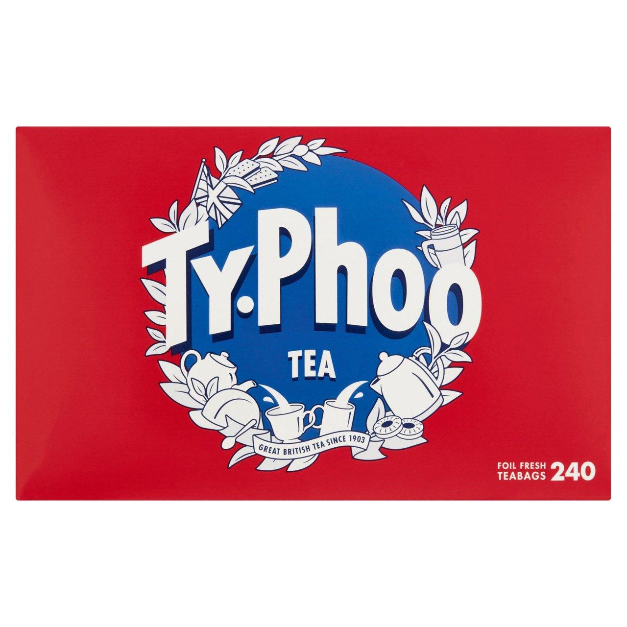 Typhoo 240 Foil Fresh Teabags 696g £1.99 @ Farmfoods