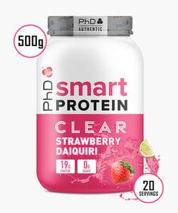 3 x 500g tubs of new smart clear whey and 12 free protein bars for 45.98 delivered @ phD Nutrition