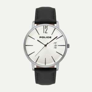 Police virtue stainless steel black strap watch - £40 Delivered @ MenKind