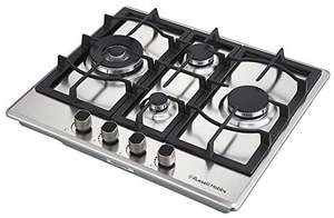 Russell Hobbs RH60GH403SS 4 Burner Gas Hob, Stainless Steel Used - Like New - £93.53 @ Amazon Warehouse