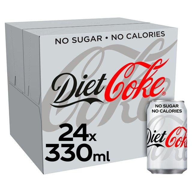 Coca Cola Coke Zero / Diet Coke / Diet Coke Caffeine Free 24 X 330Ml - £7 (Clubcard, Min Basket / Delivery Charge Applies) @ Tesco