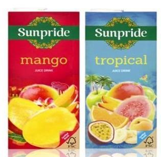 Sunpride Tropical Juice Drink /Sunpride Mango Juice Drink 1 Litre 60p (Clubcard Price) @ Tesco