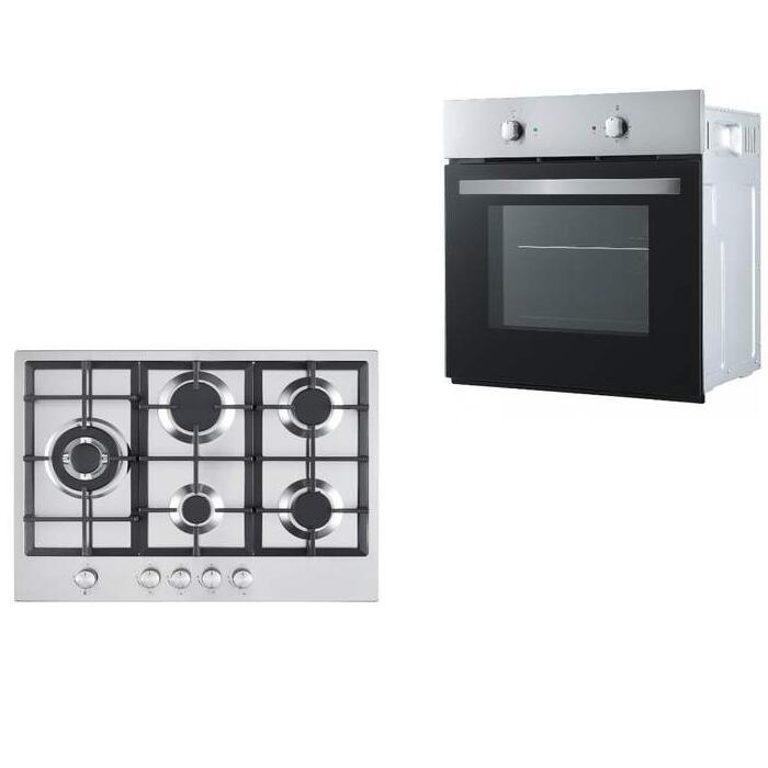 Cookology Fan Oven & 70cm 5 Burner Gas Hob in Stainless Steel Pack £254.99 Using Code @ eBay / thewrightbuyltd