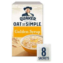 Quaker Oat So Simple Golden Syrup/Original/Strawberry Jam Porridge Sachets 8x33.2g - £1 @ Iceland