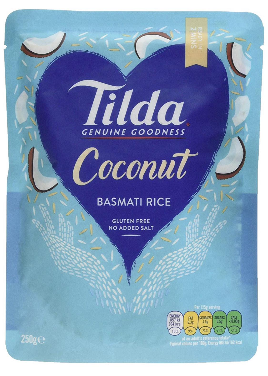 Tilda Steamed Basmati Coconut 250 g (Pack of 6) £3.91 Prime or £3.72 S&S (+£4.49 non prime) @ Amazon