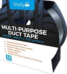 Simply DTS5010 Duct Tape - Silver 10M x 48mm - 75p Prime / +£4.49 non Prime @ Amazon