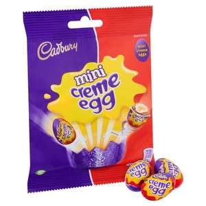 Cadbury Creme Eggs Mini Bag 78g 66p (min spend / delivery charges apply) @ Ocado
