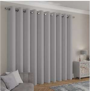 Caldo Thermal Silver Eyelet Curtains From £10 +£3.95 delivery @ Dunelm