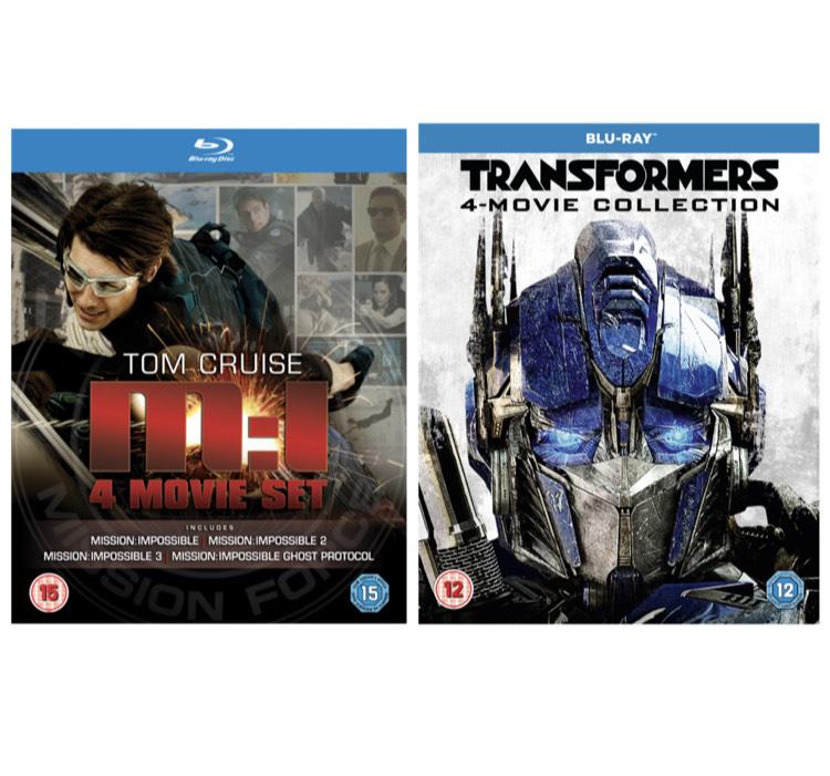 (Blu-ray) Mission Impossible 1-4 Box Set - £4.11 / Transformers 1-4 Box Set - £4.15 Delivered @ Rarewaves