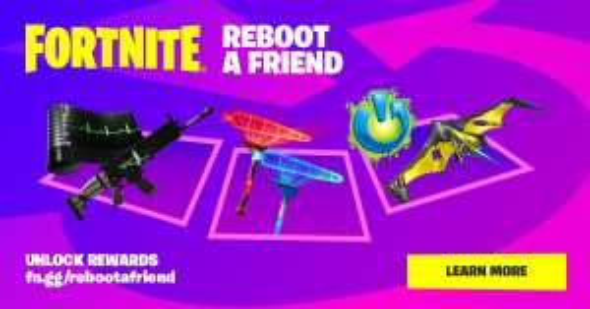 Reboot a friend in Fortnite and get rewards