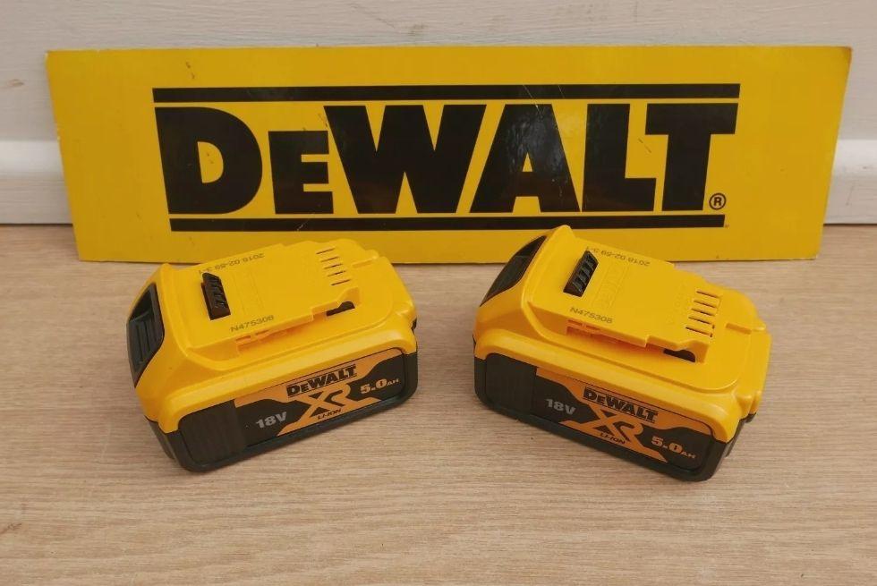 Pair of Brand New DeWalt DCB184 18V 5 AH XR Li-Ion Batteries - £99.32 delivered using code @ abbeypower / eBay