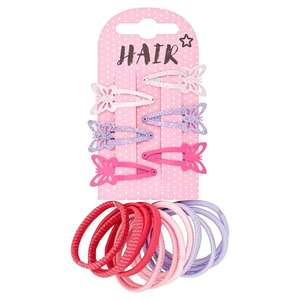 Superdrug Kids Butterfly Hair Clips & Bands 12 Pack Only 49p and buy 1 get 2nd half price (click and collect - limited stock) @ Superdrug