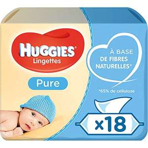 Huggies Pure Baby Wipes Bulk, 99% Water, Sensitive, 1008 Wet Wipes (18 packs x 56 Wipes) £10.50 with prime (+£4.49 non prime) @ Amazon