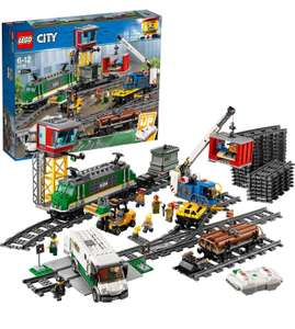 LEGO City 60198 Cargo Train Set Battery Powered Engine For 6+, RC Bluetooth Connection, 3 Wagons, Tracks and Accessories £105 at Amazon