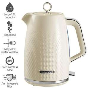 Morphy Richards Verve Electric Kettle, 1.7 liters, Cream £27.49 delivered at Amazon