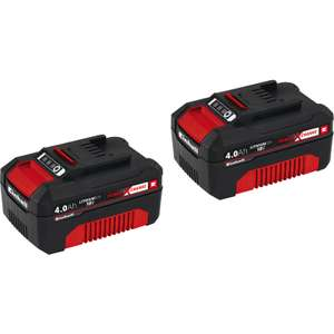 TWIN pack Einhell Power X-Change 18V 4.0Ah batteries - £59.98 C&C only @ Toolstation