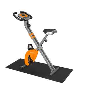 Exercise Bike, 8 Magnetic Resistance Levels, Foldable, Adjustable, with Pulse Sensor + Floor Mat - £106 delivered with code @ Songmics
